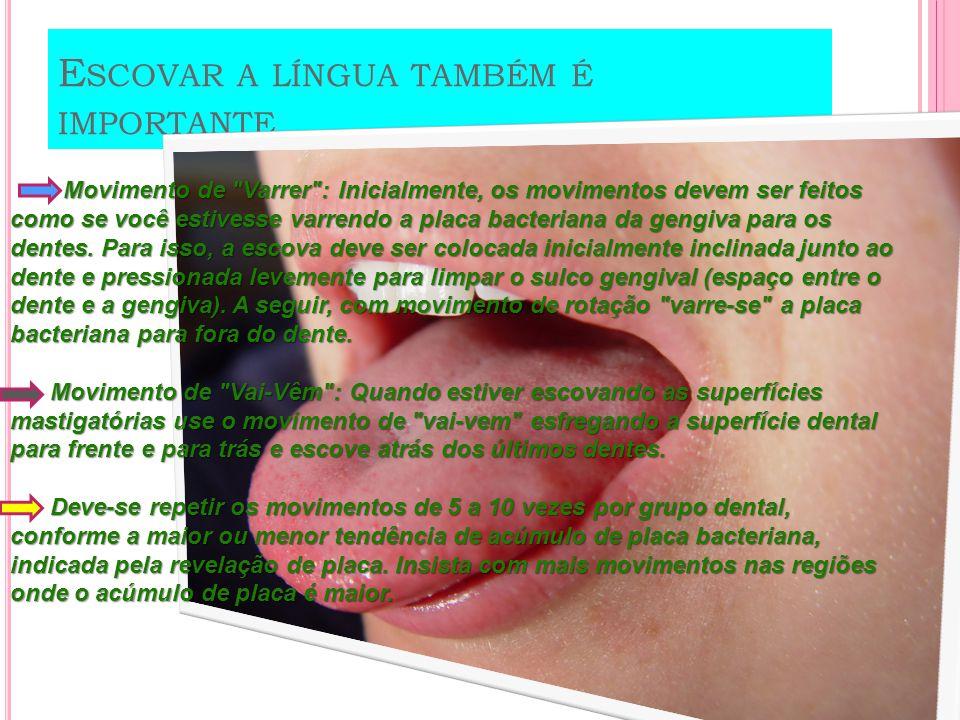 Escovar a língua também é importante