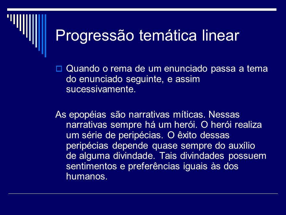 Progressão temática linear