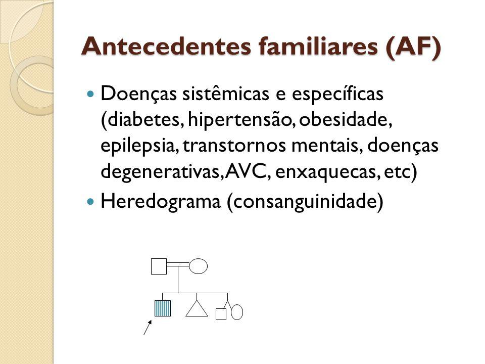 Antecedentes familiares (AF)