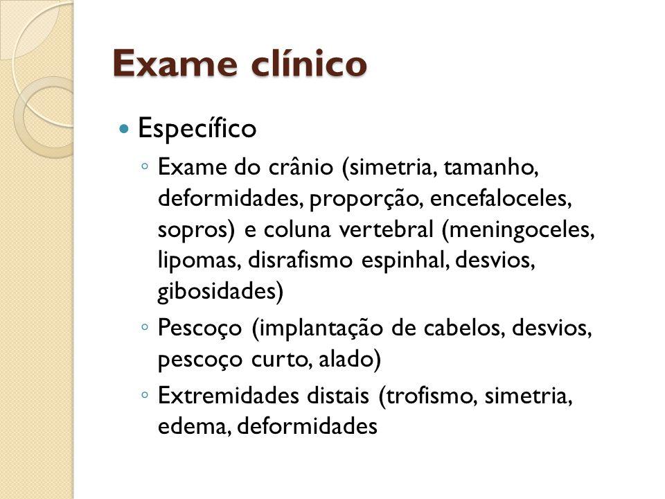 Exame clínico Específico
