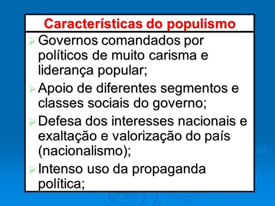 Características do populismo