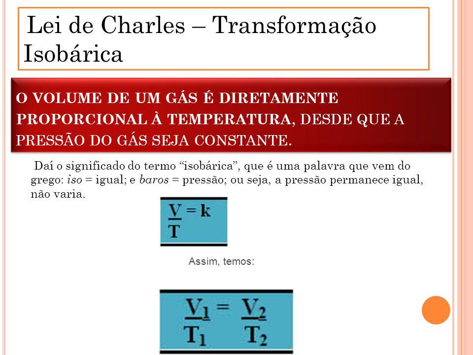 Lei de Charles – Transformação Isobárica