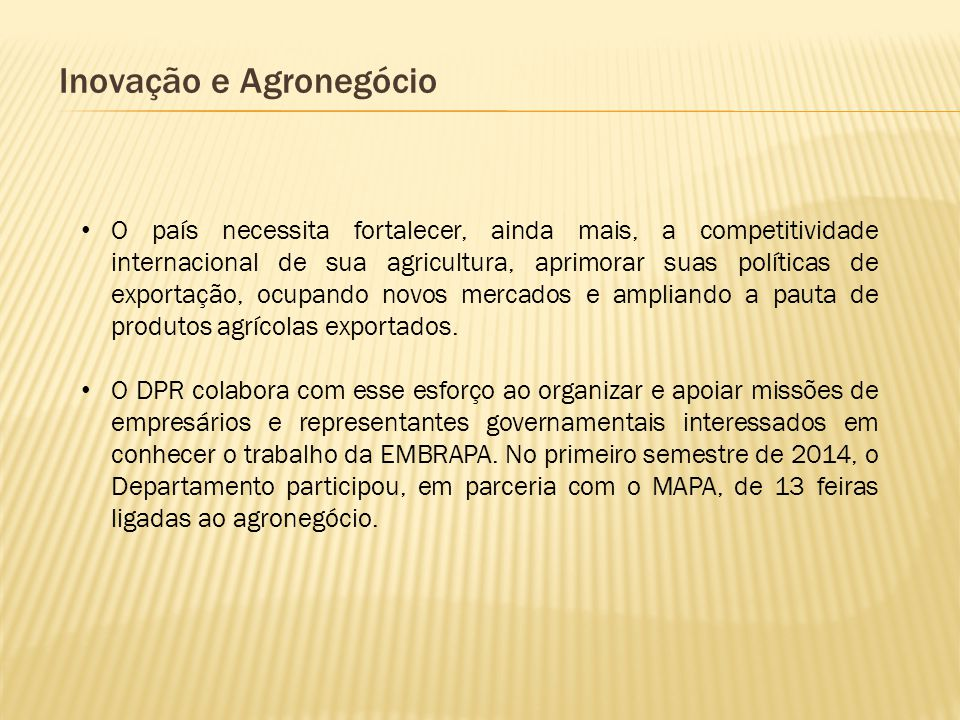 Inovação e Agronegócio