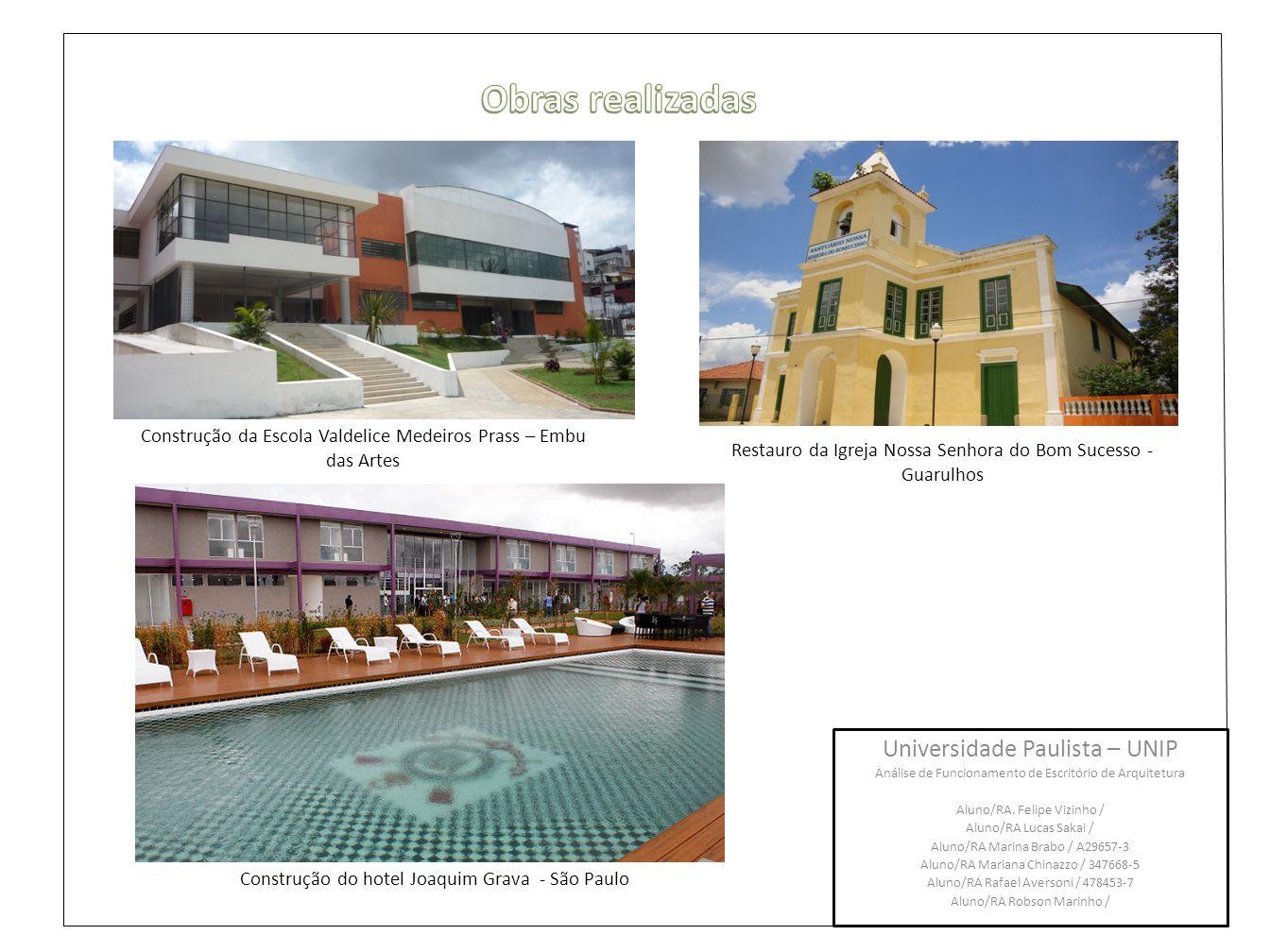 Obras realizadas Universidade Paulista – UNIP