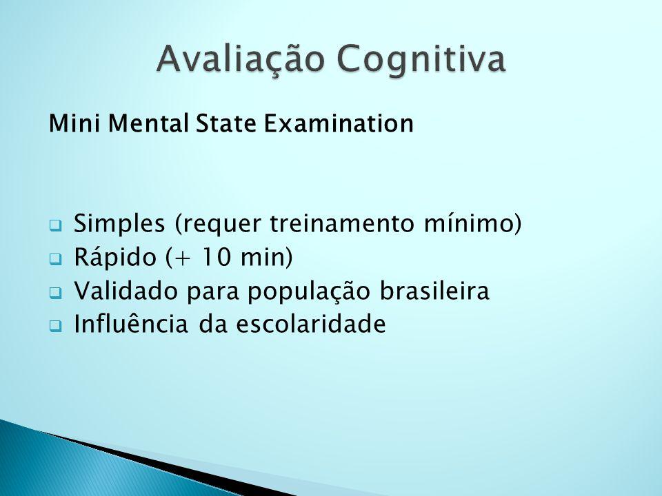 Avaliação Cognitiva Mini Mental State Examination