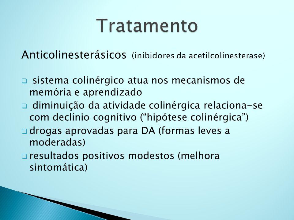 Tratamento Anticolinesterásicos (inibidores da acetilcolinesterase)