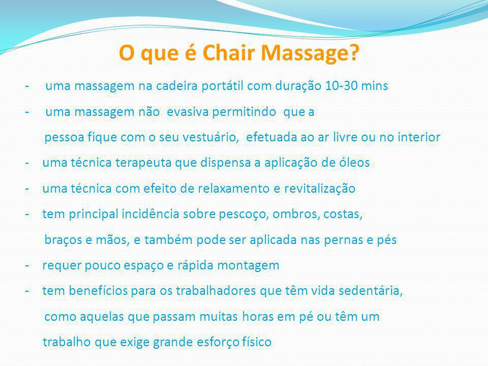 O que é Chair Massage.