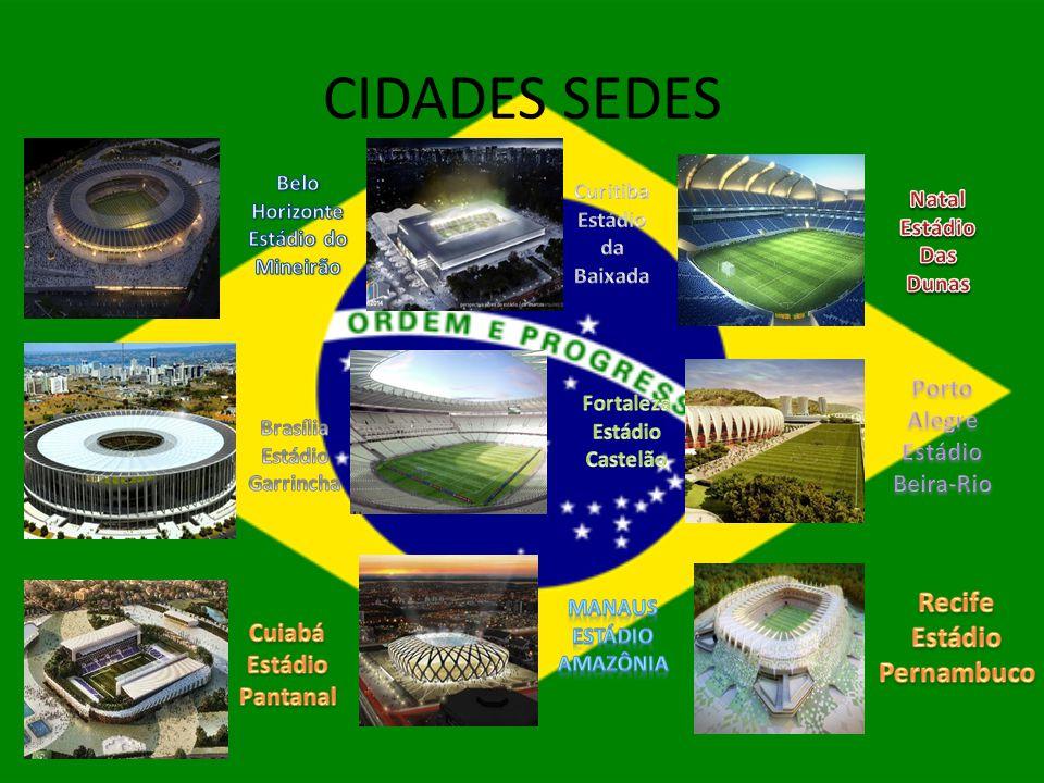 CIDADES SEDES Recife Estádio Pernambuco Porto Alegre Estádio Beira-Rio