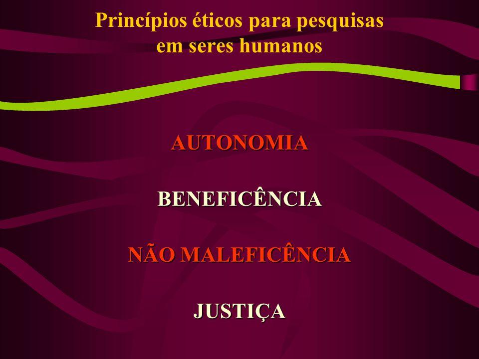 Princípios éticos para pesquisas em seres humanos