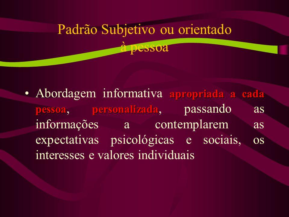 Padrão Subjetivo ou orientado à pessoa