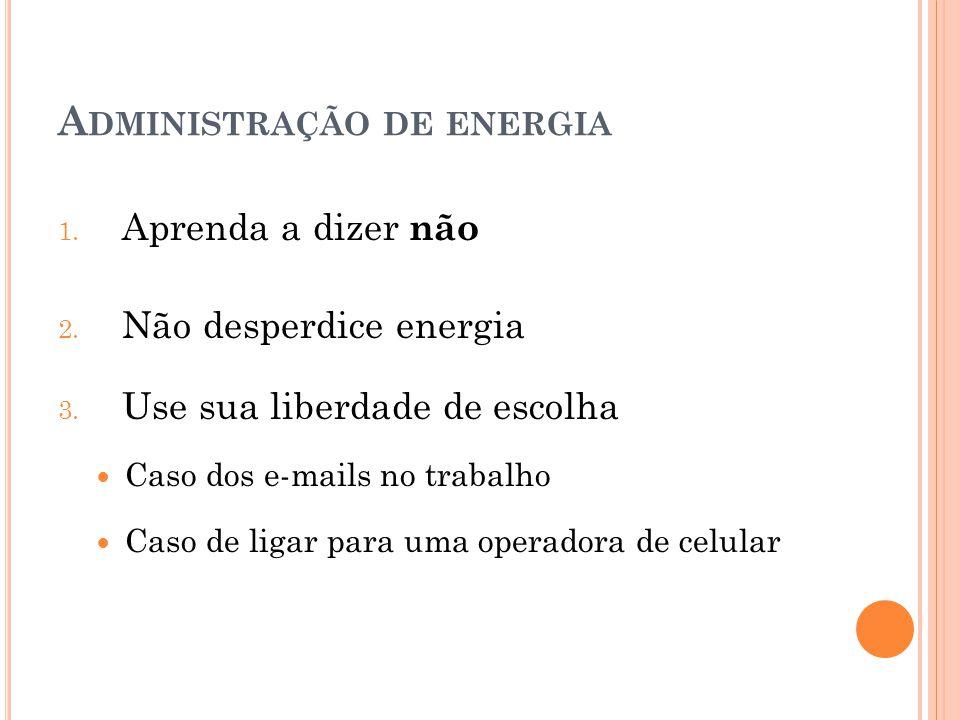 Administração de energia