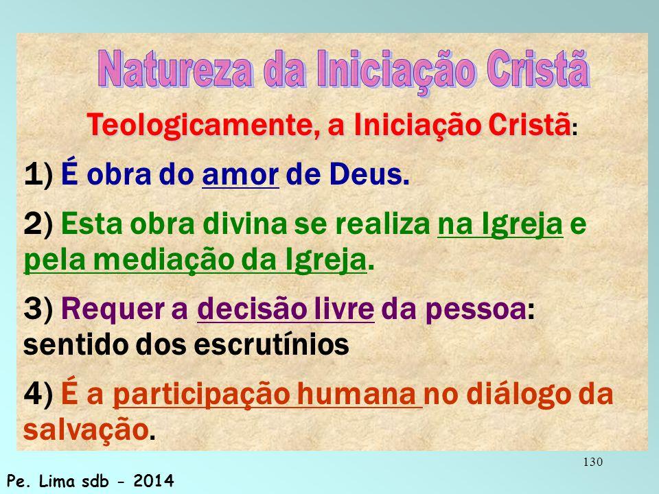 Teologicamente, a Iniciação Cristã: Natureza da Iniciação Cristã