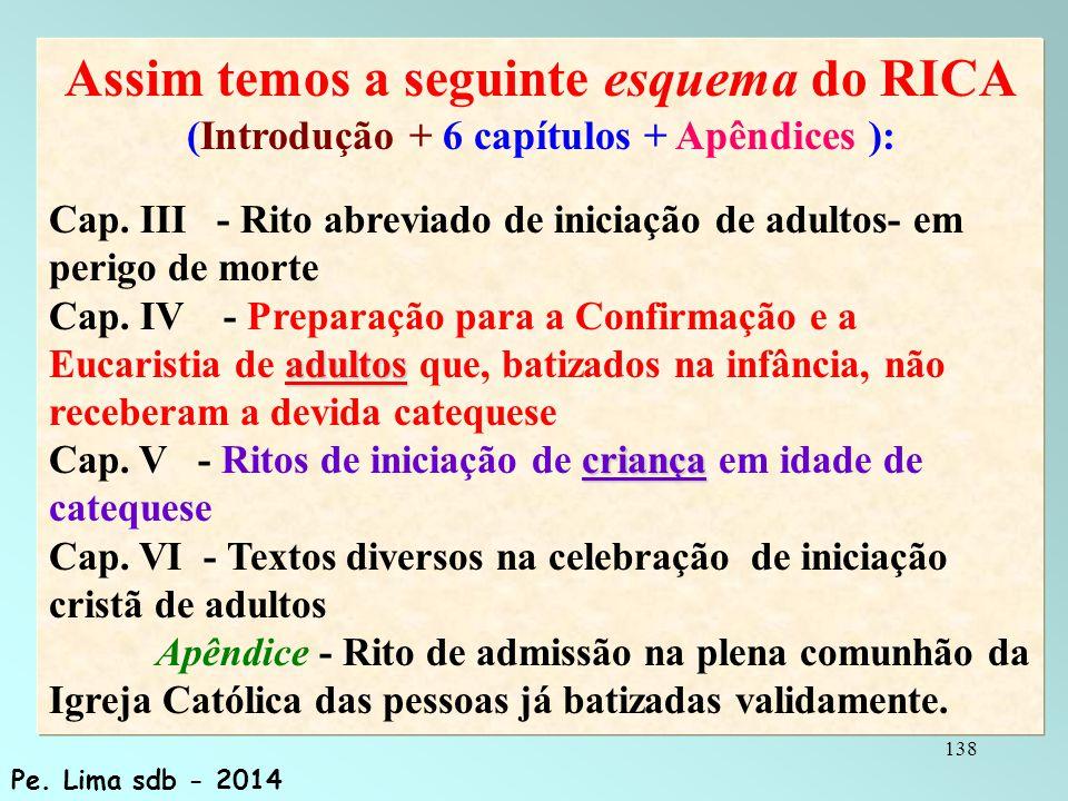 Assim temos a seguinte esquema do RICA