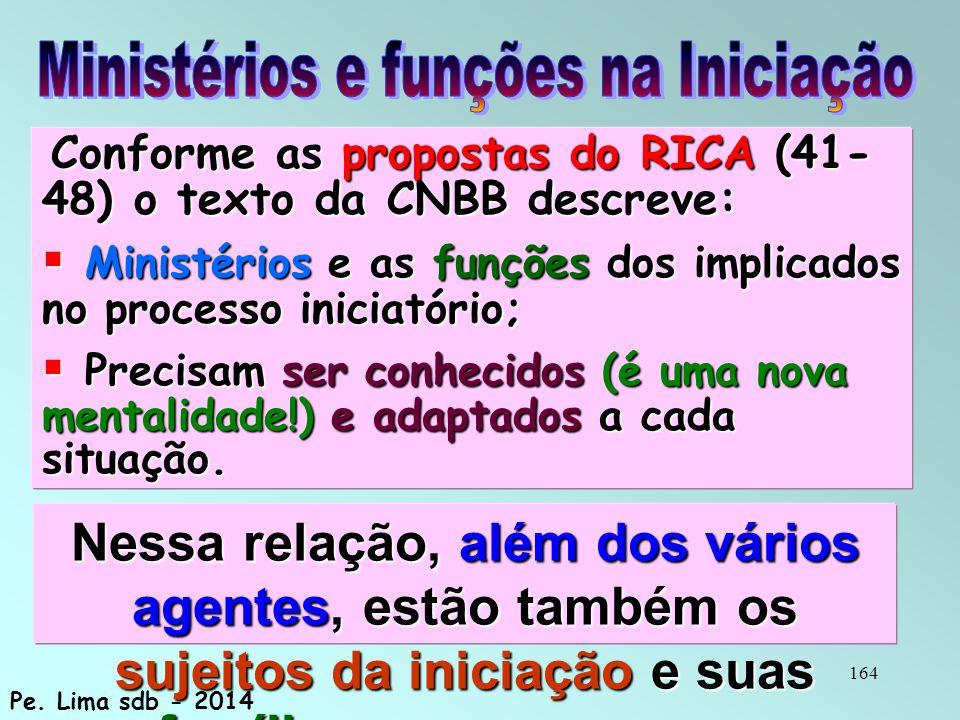 Ministérios e funções na Iniciação