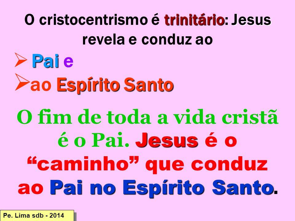 O cristocentrismo é trinitário: Jesus revela e conduz ao