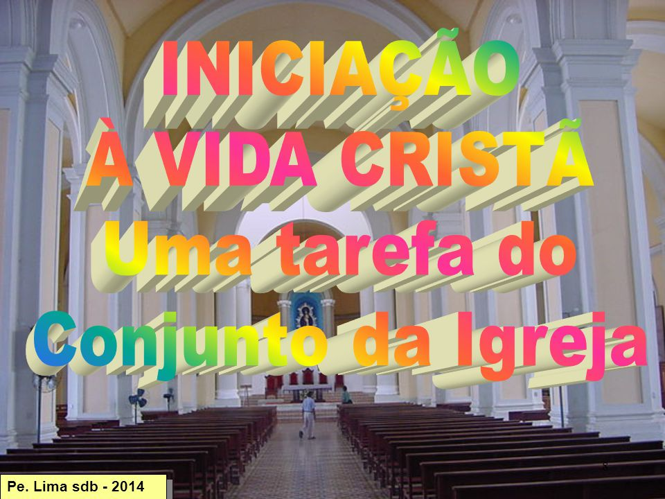 INICIAÇÃO À VIDA CRISTÃ Uma tarefa do Conjunto da Igreja