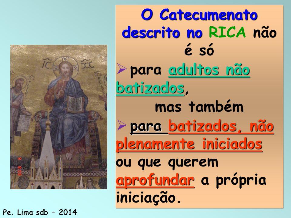O Catecumenato descrito no RICA não é só