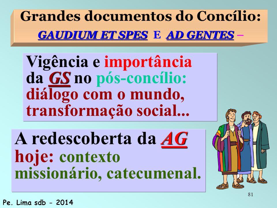 Grandes documentos do Concílio: GAUDIUM ET SPES E AD GENTES –