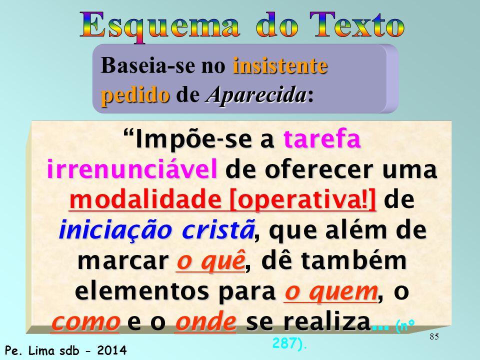 Esquema do Texto Baseia-se no insistente pedido de Aparecida: