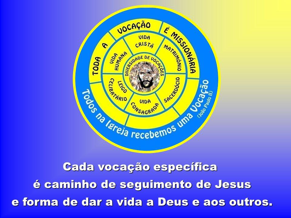 Cada vocação específica é caminho de seguimento de Jesus