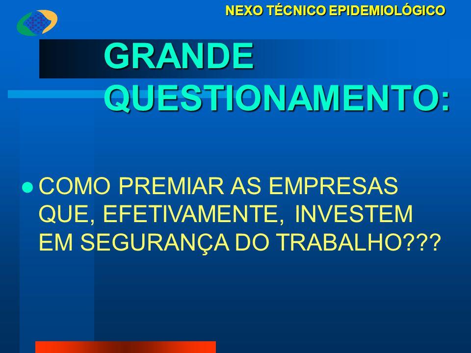 GRANDE QUESTIONAMENTO: