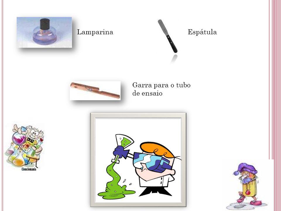 Lamparina Espátula Garra para o tubo de ensaio