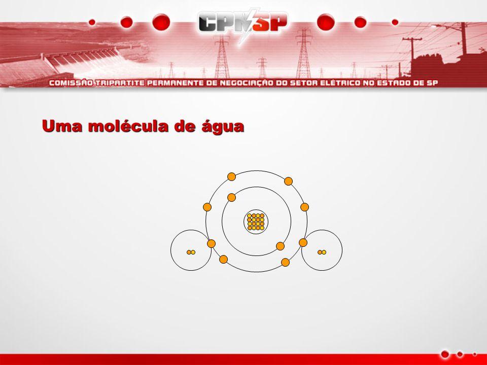 Uma molécula de água