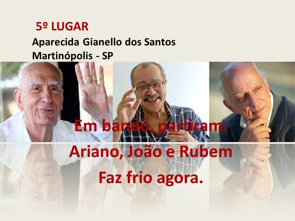 5º LUGAR Aparecida Gianello dos Santos Martinópolis - SP