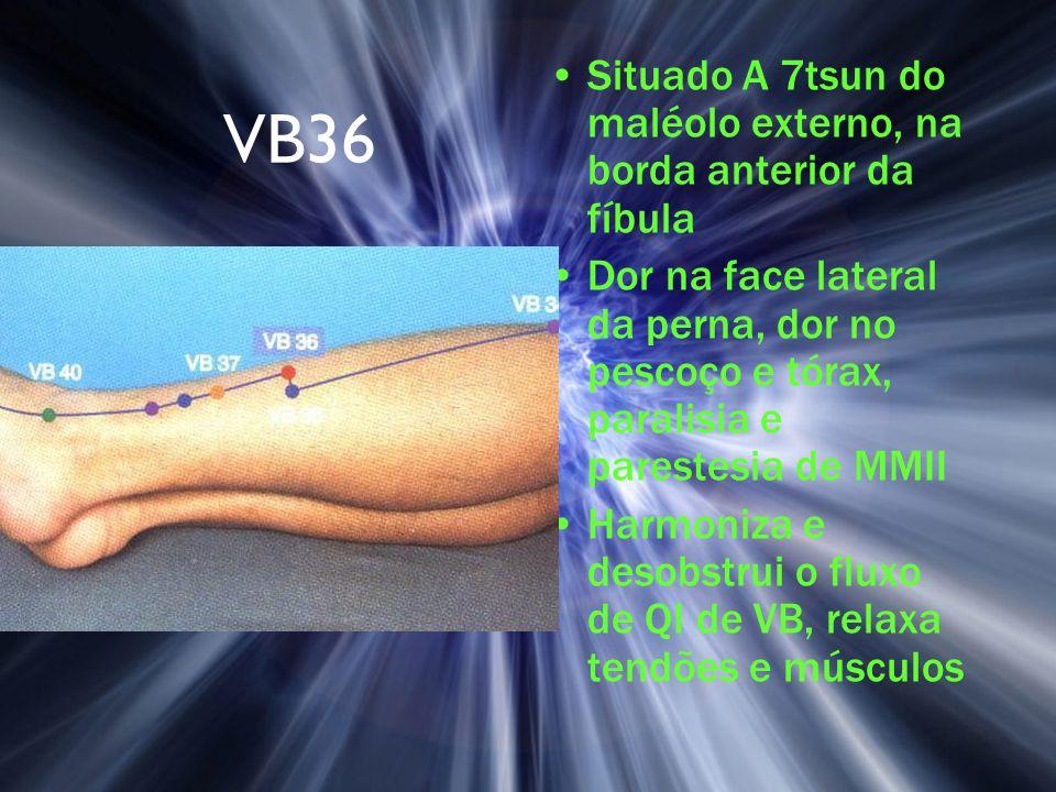 VB36 Situado A 7tsun do maléolo externo, na borda anterior da fíbula