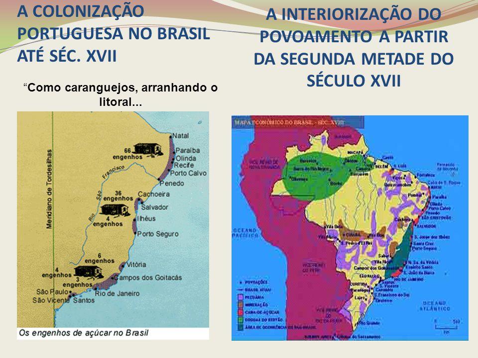 A COLONIZAÇÃO PORTUGUESA NO BRASIL ATÉ SÉC. XVII