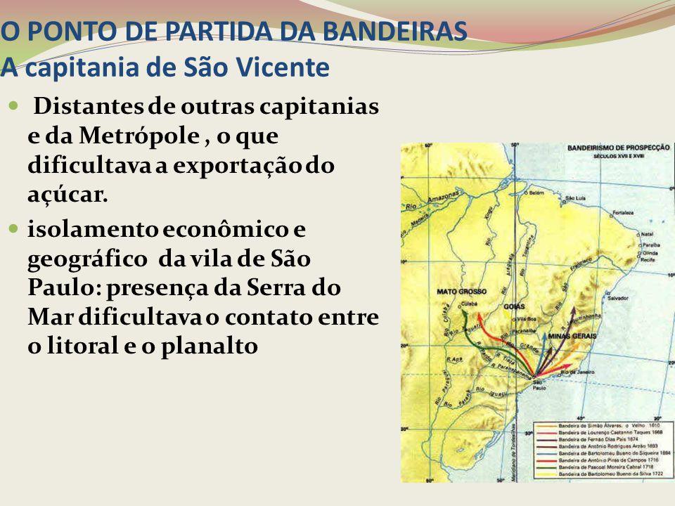 O PONTO DE PARTIDA DA BANDEIRAS A capitania de São Vicente