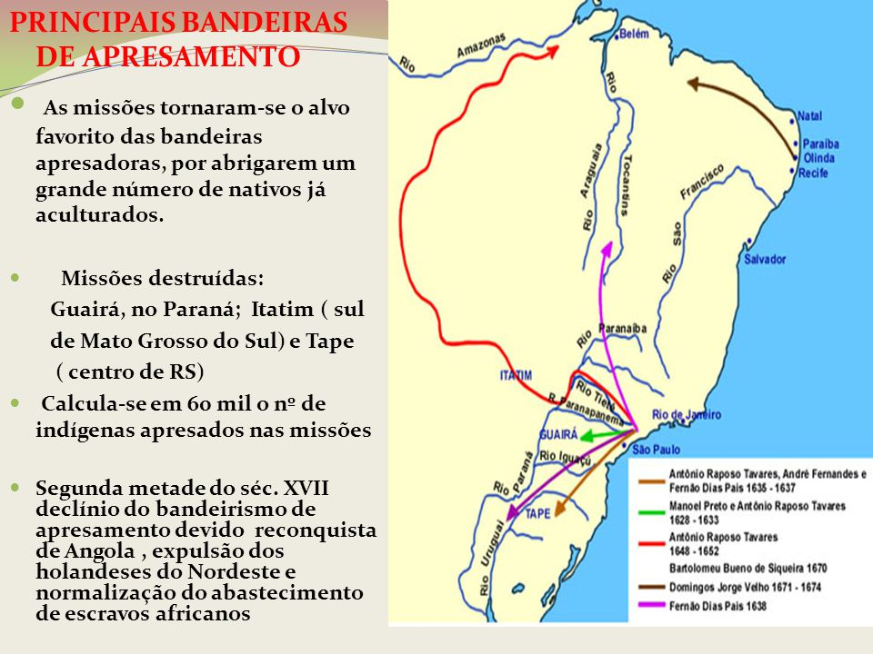 PRINCIPAIS BANDEIRAS DE APRESAMENTO