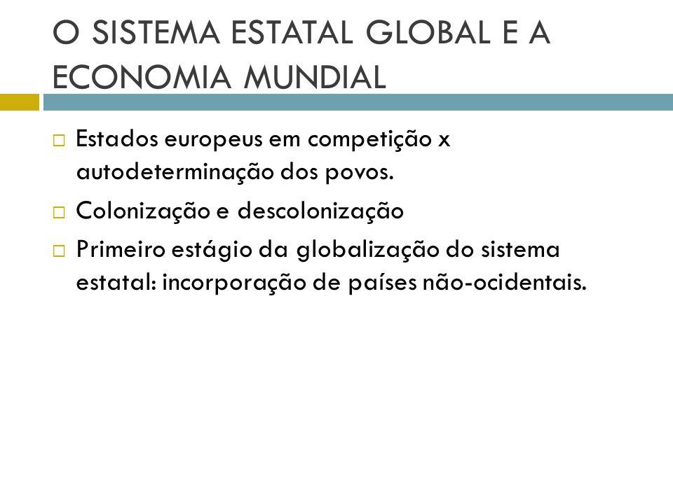 O SISTEMA ESTATAL GLOBAL E A ECONOMIA MUNDIAL