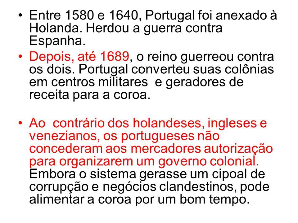 Entre 1580 e 1640, Portugal foi anexado à Holanda