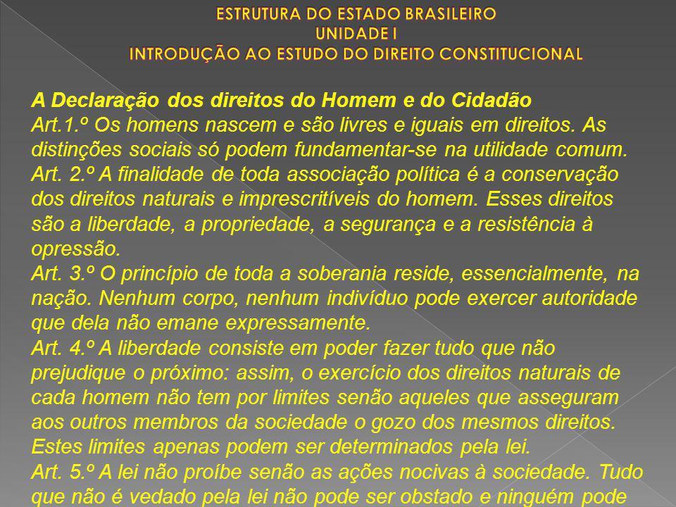 A Declaração dos direitos do Homem e do Cidadão