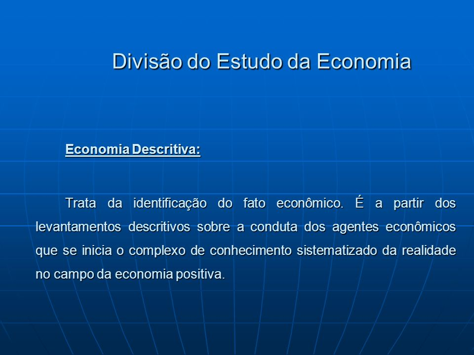 Divisão do Estudo da Economia