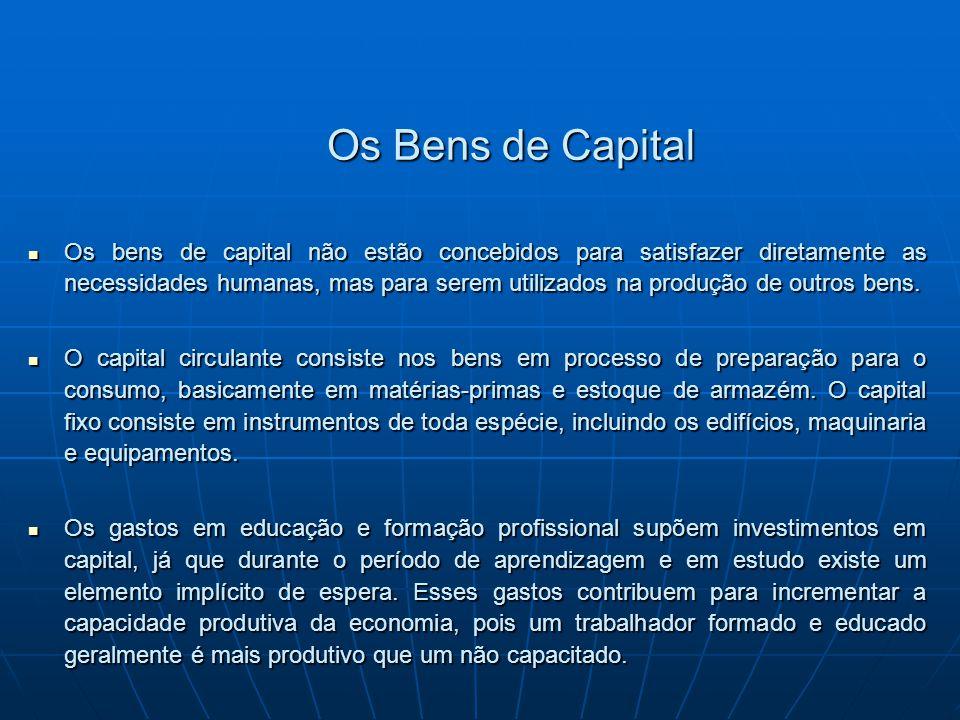 Os Bens de Capital