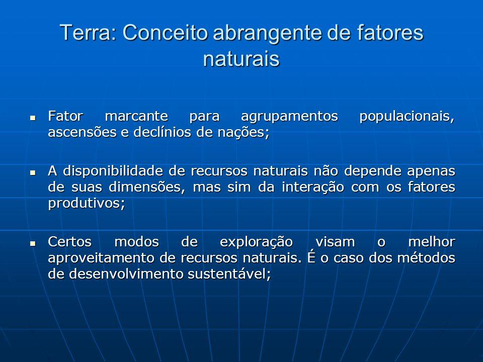 Terra: Conceito abrangente de fatores naturais