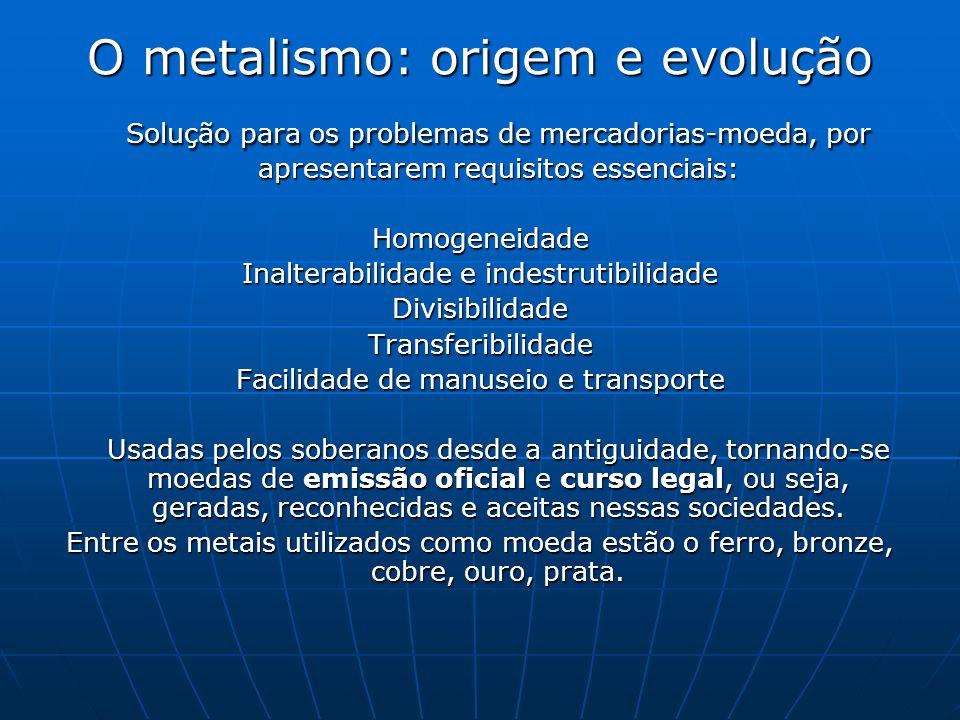O metalismo: origem e evolução