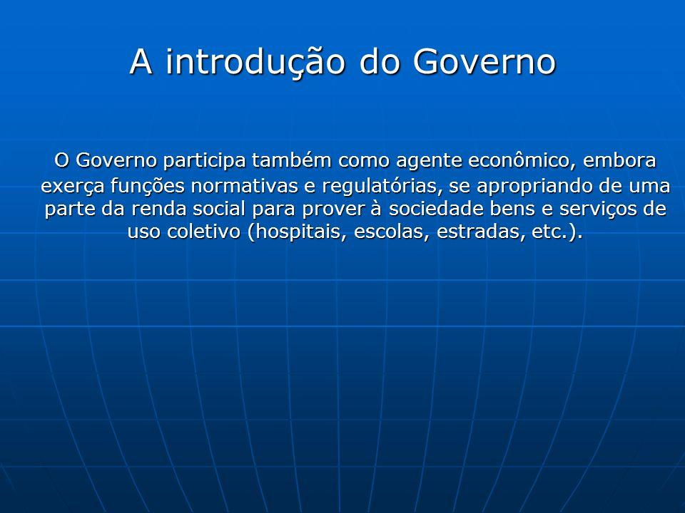 A introdução do Governo