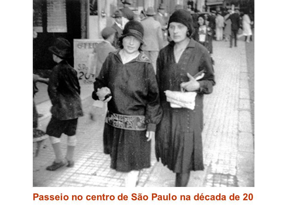 Passeio no centro de São Paulo na década de 20