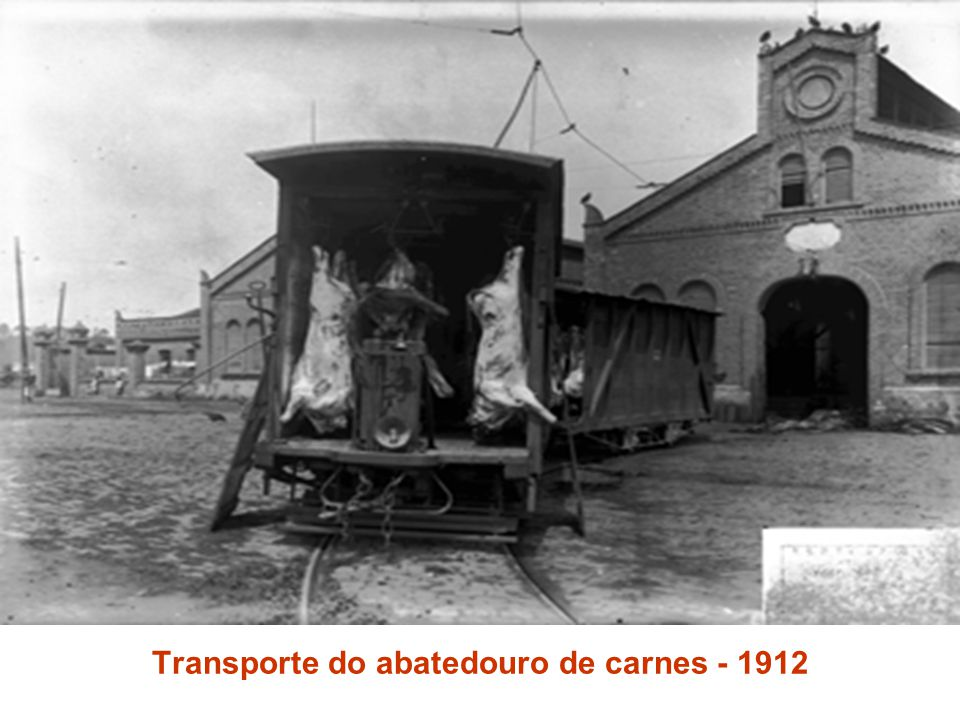 Transporte do abatedouro de carnes - 1912