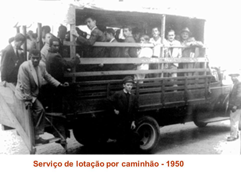 Serviço de lotação por caminhão - 1950