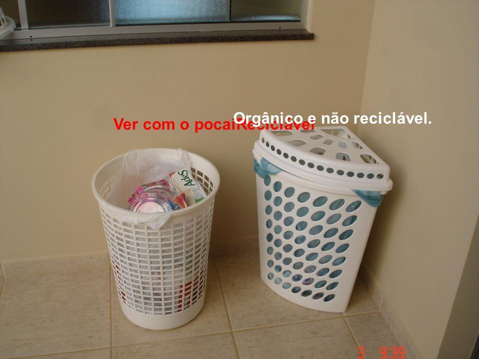 Orgânico e não reciclável.