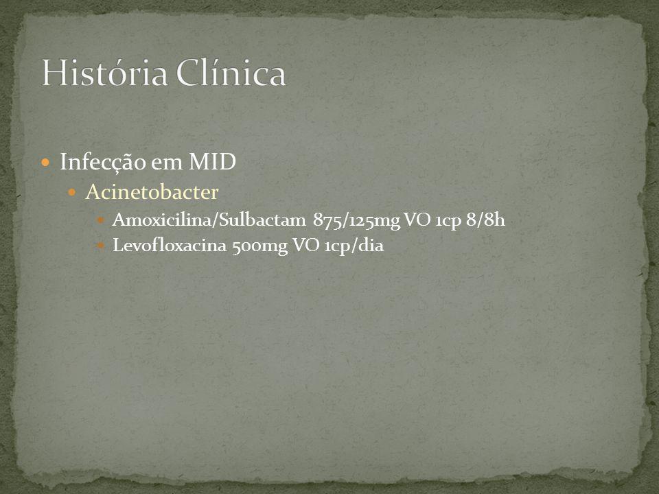 História Clínica Infecção em MID Acinetobacter