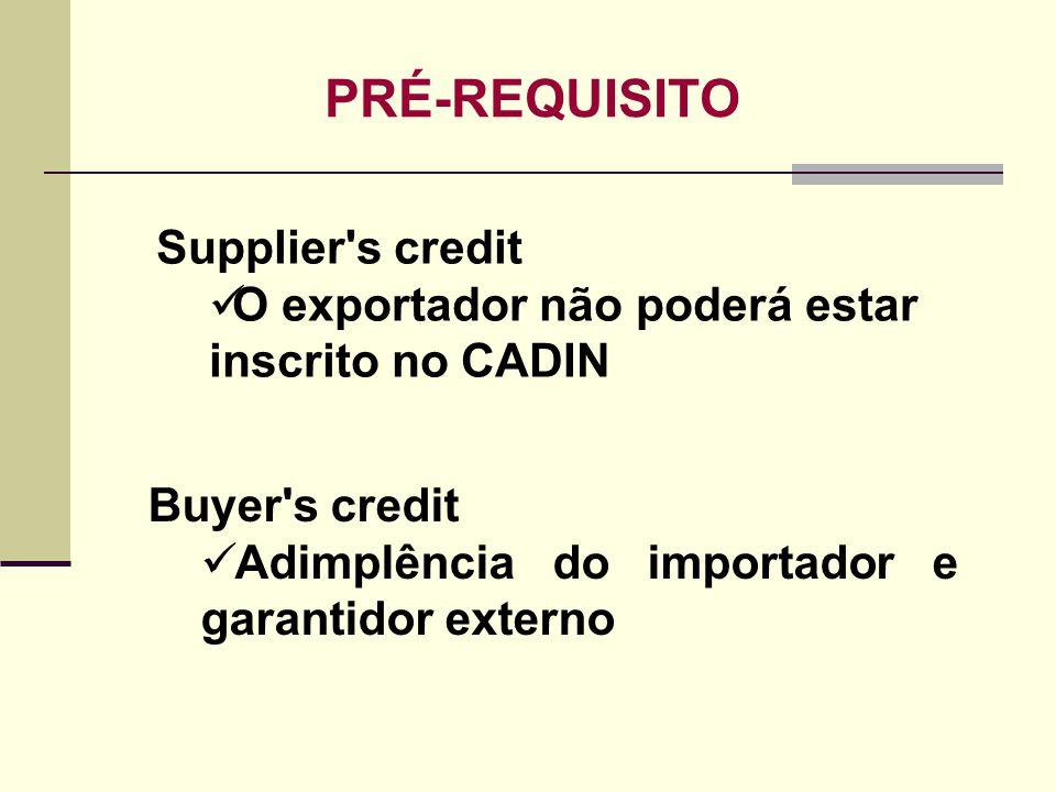 PRÉ-REQUISITO Supplier s credit