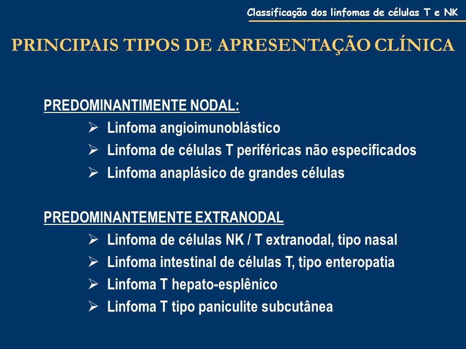 PRINCIPAIS TIPOS DE APRESENTAÇÃO CLÍNICA