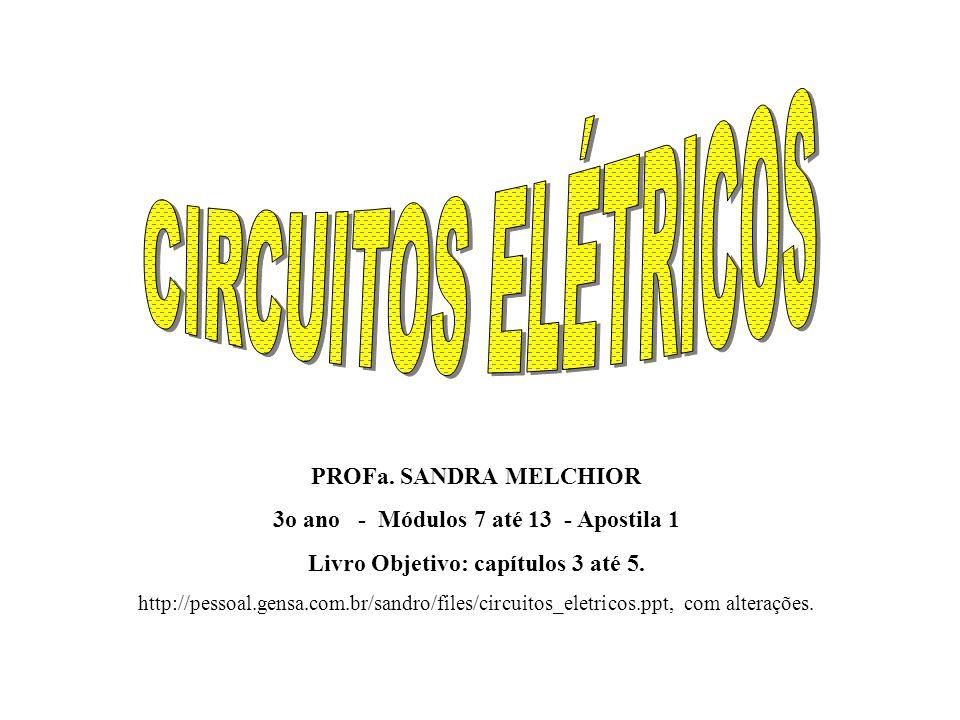 CIRCUITOS ELÉTRICOS PROFa. SANDRA MELCHIOR