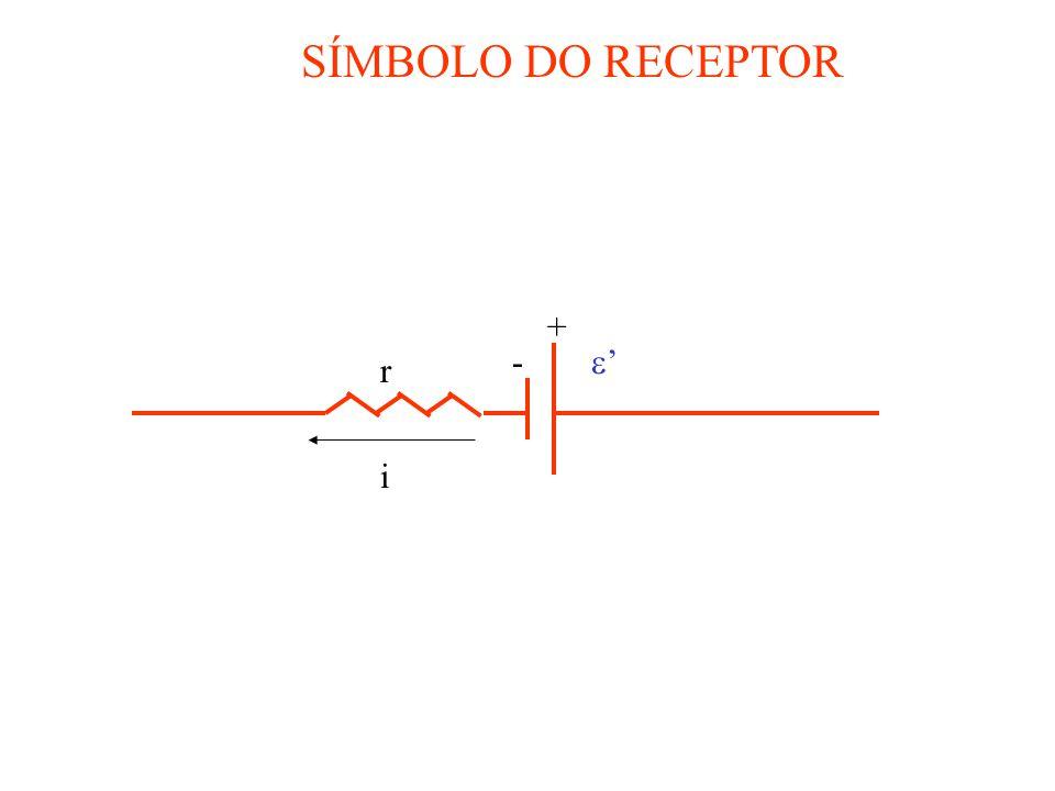 SÍMBOLO DO RECEPTOR ' i + - r