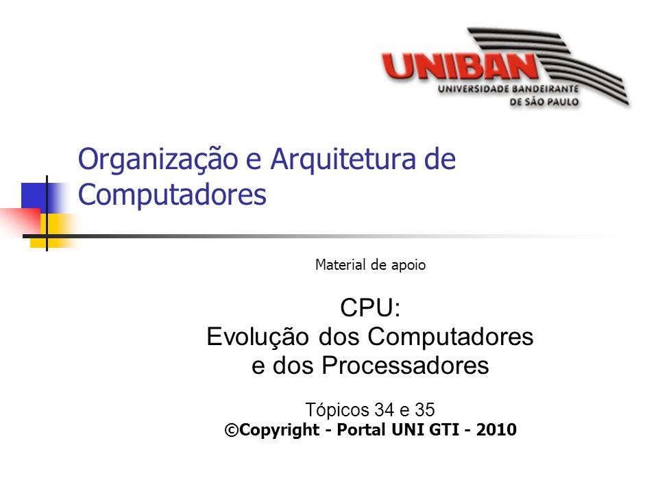 Organização e Arquitetura de Computadores